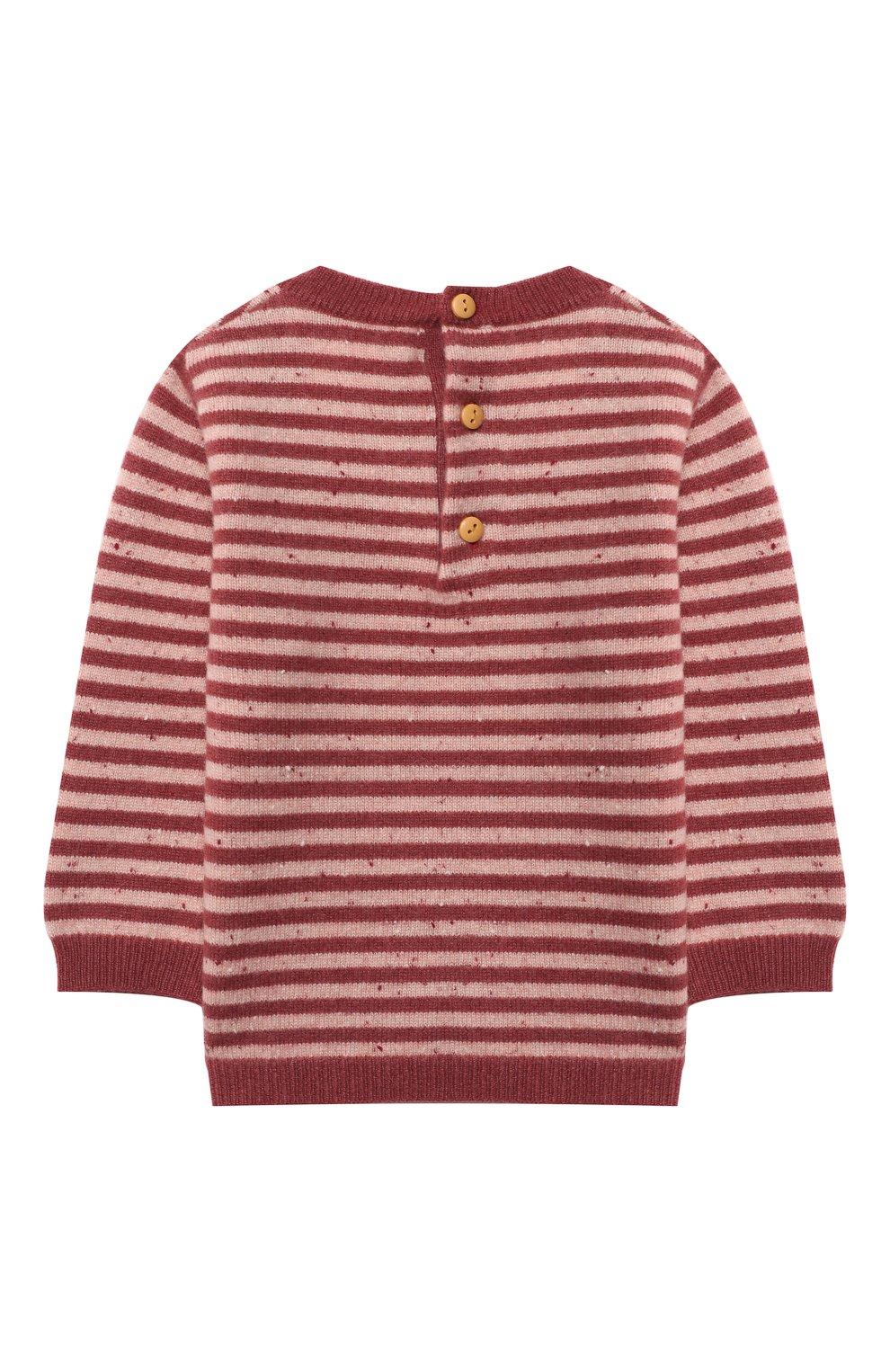 Детский кашемировый пуловер LES LUTINS PARIS бордового цвета, арт. 20H054/CAMILLE   Фото 2