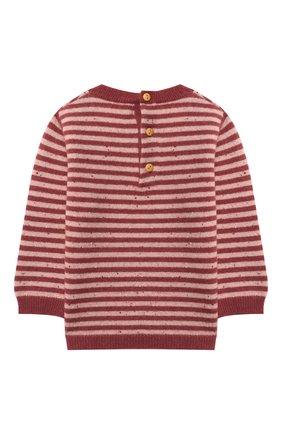 Детский кашемировый пуловер LES LUTINS PARIS бордового цвета, арт. 20H054/CAMILLE | Фото 2