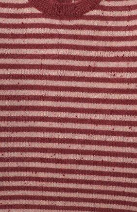 Детский кашемировый пуловер LES LUTINS PARIS бордового цвета, арт. 20H054/CAMILLE   Фото 3
