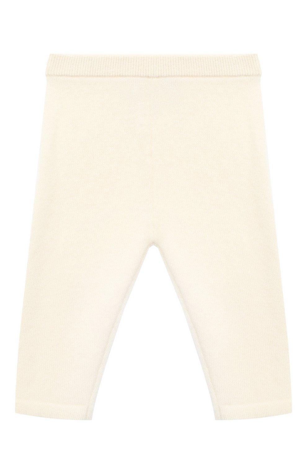 Детские кашемировые брюки LES LUTINS PARIS бежевого цвета, арт. 20H001/LEGGING   Фото 1