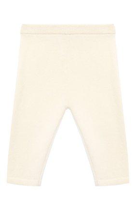 Детские кашемировые брюки LES LUTINS PARIS бежевого цвета, арт. 20H001/LEGGING | Фото 1
