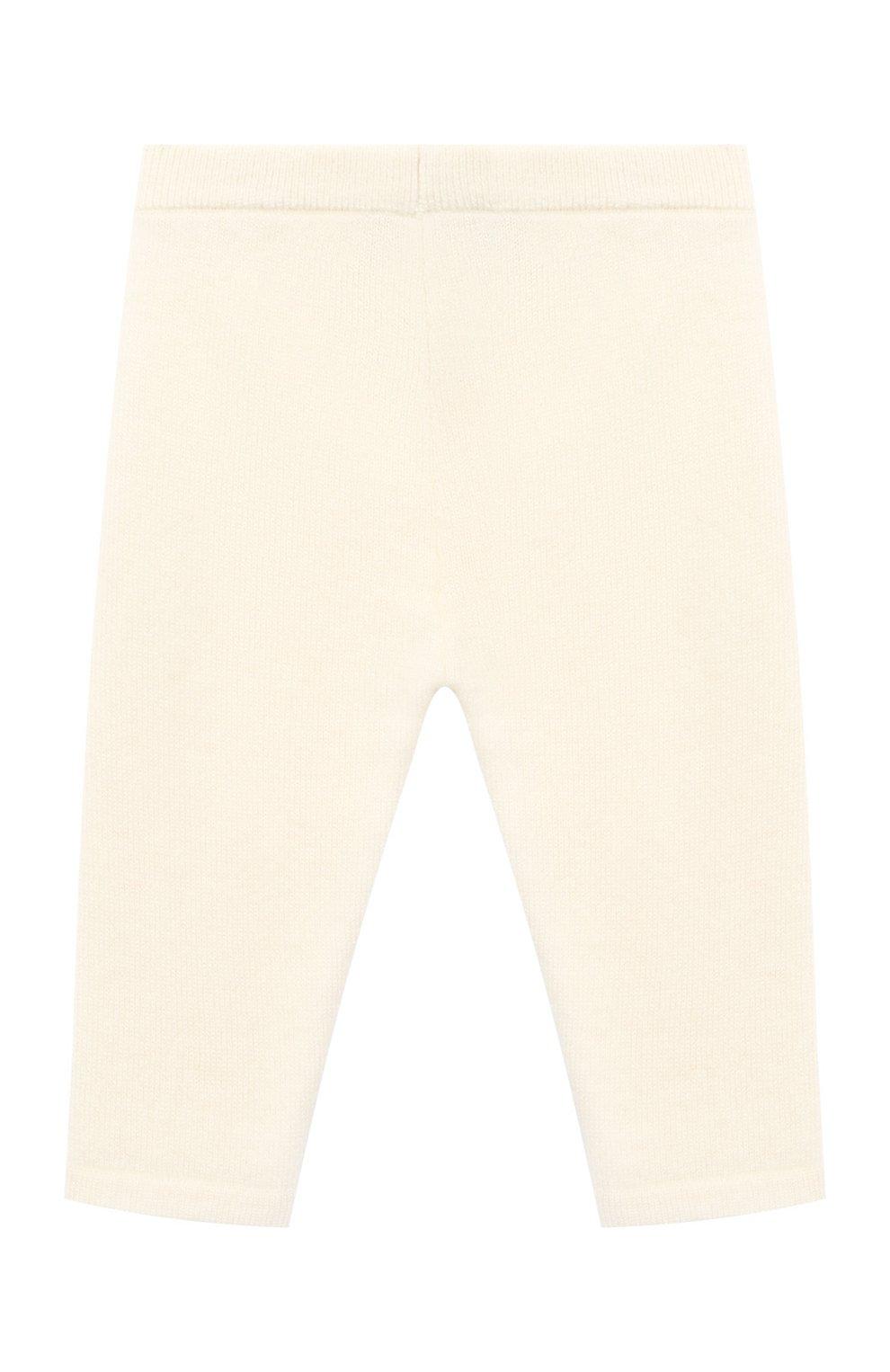 Детские кашемировые брюки LES LUTINS PARIS бежевого цвета, арт. 20H001/LEGGING   Фото 2