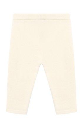 Детские кашемировые брюки LES LUTINS PARIS бежевого цвета, арт. 20H001/LEGGING | Фото 2