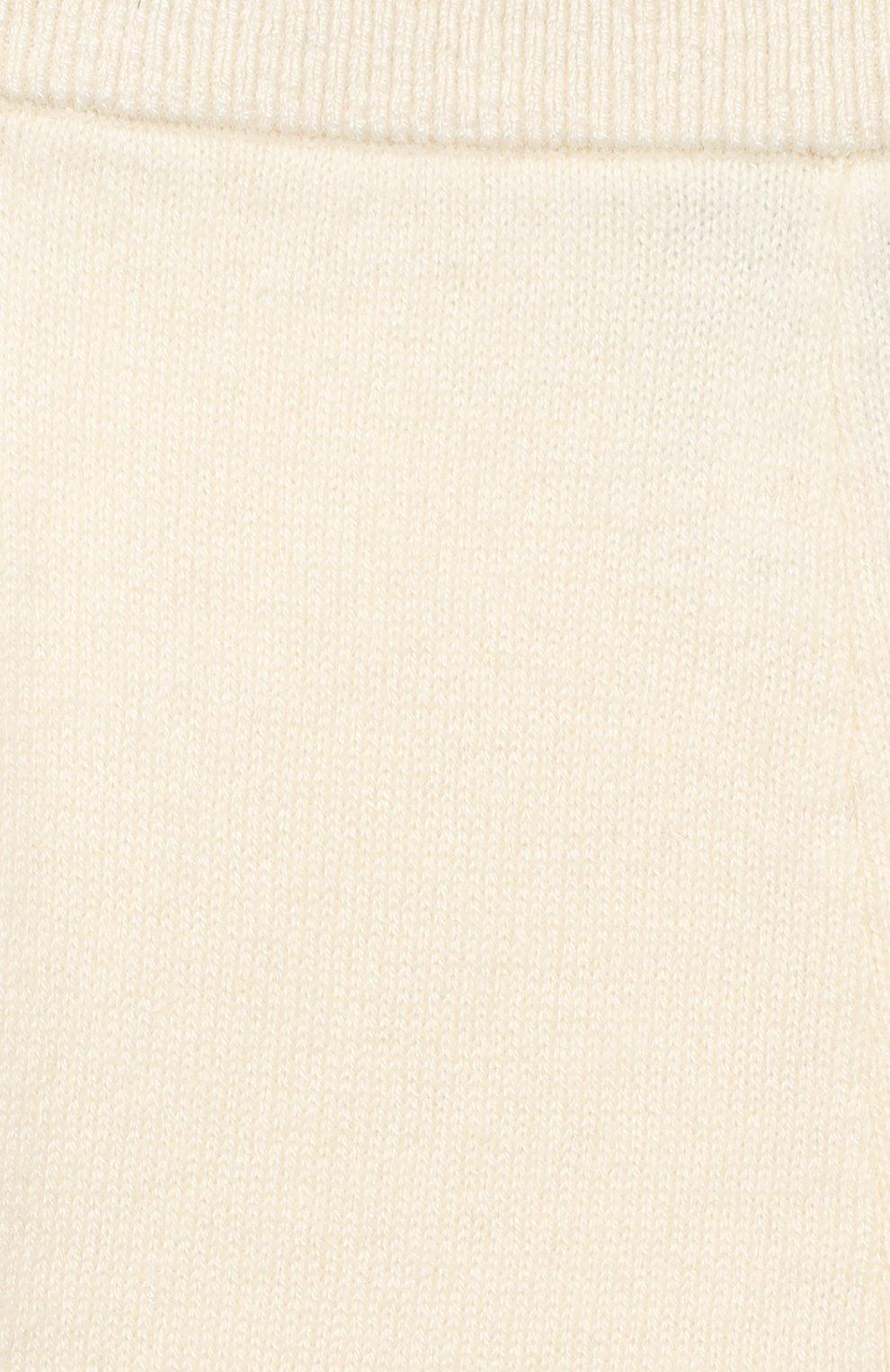 Детские кашемировые брюки LES LUTINS PARIS бежевого цвета, арт. 20H001/LEGGING   Фото 3
