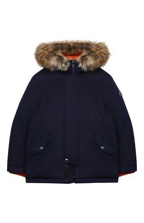 Детского пуховая куртка POLO RALPH LAUREN темно-синего цвета, арт. 322797762 | Фото 1