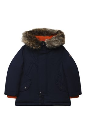 Детского пуховая куртка POLO RALPH LAUREN темно-синего цвета, арт. 321797762 | Фото 1