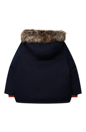 Детского пуховая куртка POLO RALPH LAUREN темно-синего цвета, арт. 321797762 | Фото 2
