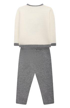 Детский комплект из пуловера и брюк BABY T серого цвета, арт. 20AI070C/1M-12M | Фото 2