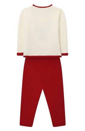Детский комплект из пуловера и брюк BABY T красного цвета, арт. 20AI070C/1M-12M | Фото 2