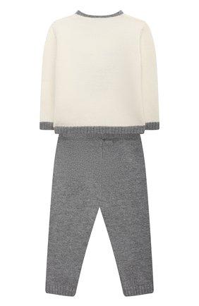 Детский комплект из пуловера и брюк BABY T серого цвета, арт. 20AI070C/18M-3A | Фото 2