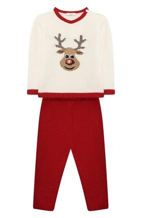 Детский комплект из пуловера и брюк BABY T красного цвета, арт. 20AI070C/18M-3A | Фото 1