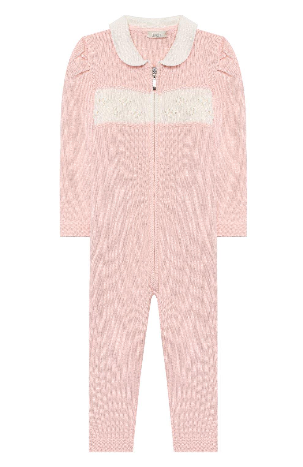 Детский шерстяной комбинезон BABY T розового цвета, арт. 20AI111TZ/1M-12M   Фото 1