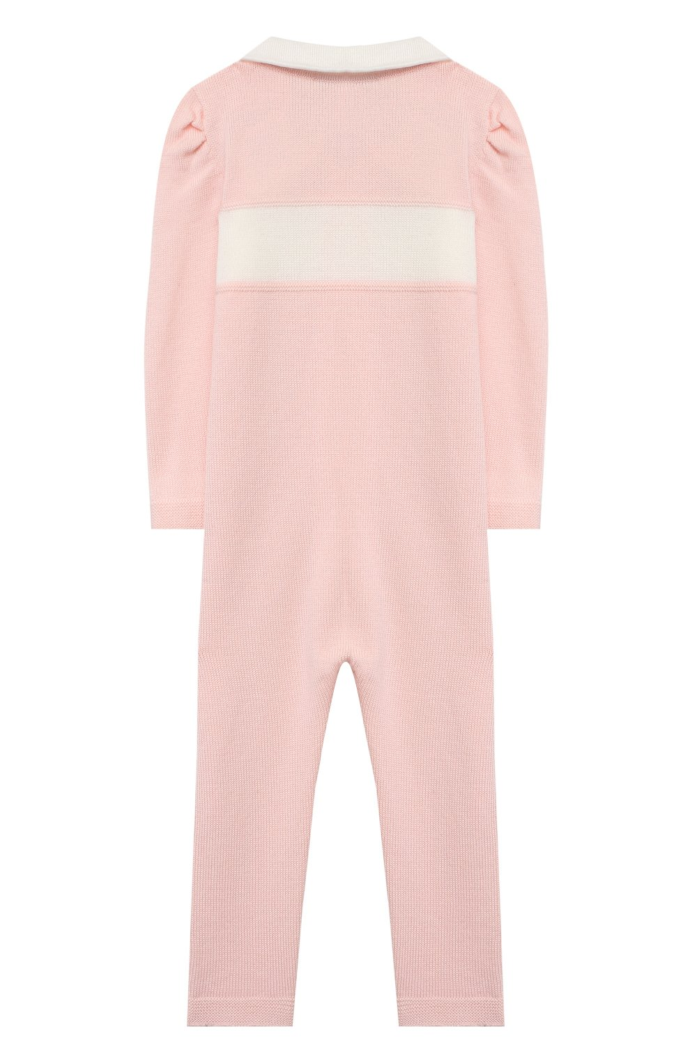 Детский шерстяной комбинезон BABY T розового цвета, арт. 20AI111TZ/1M-12M   Фото 2