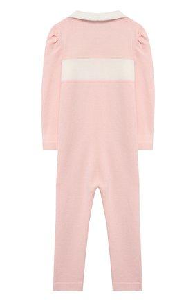 Детский шерстяной комбинезон BABY T розового цвета, арт. 20AI111TZ/1M-12M | Фото 2