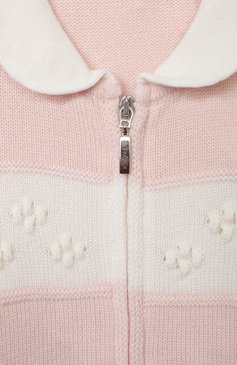 Детский шерстяной комбинезон BABY T розового цвета, арт. 20AI111TZ/1M-12M   Фото 3