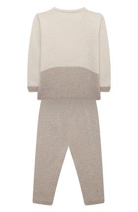 Детский комплект из пуловера и брюк BABY T бежевого цвета, арт. 20AI170C/18M-3A | Фото 2