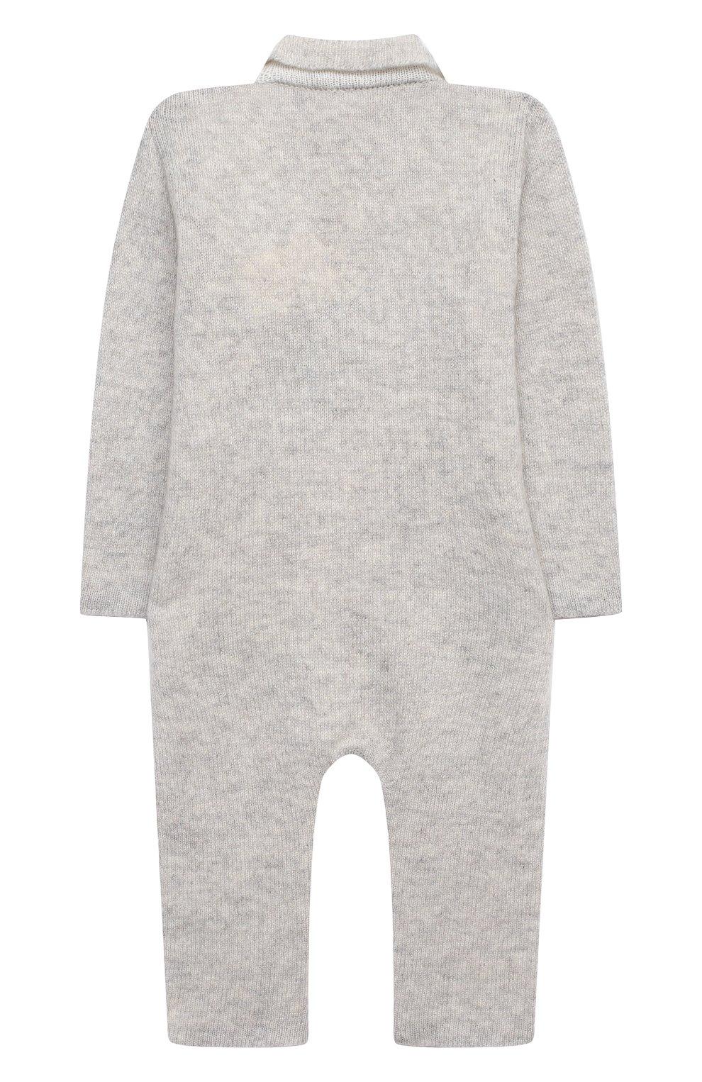 Детский кашемировый комбинезон BABY T серого цвета, арт. 20AIC881TZ/18M-3A | Фото 2