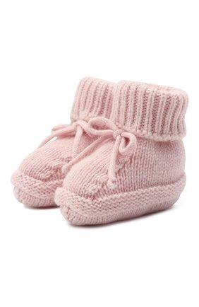 Детские кашемировые носки BABY T розового цвета, арт. 20AIC883SA | Фото 1