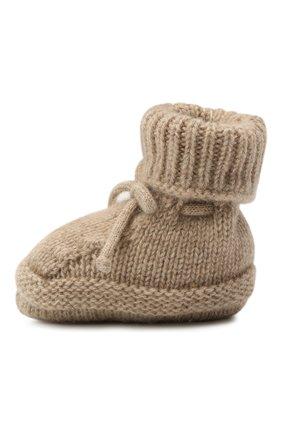 Детские кашемировые носки BABY T бежевого цвета, арт. 20AIC883SA   Фото 2