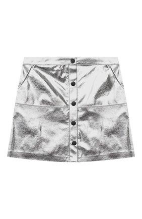 Детская юбка MSGM KIDS серебряного цвета, арт. 025184 | Фото 1