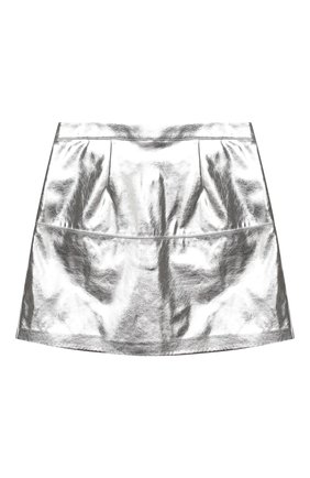 Детская юбка MSGM KIDS серебряного цвета, арт. 025184 | Фото 2