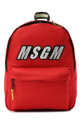 Детская рюкзак MSGM KIDS красного цвета, арт. 025236   Фото 1 (Материал: Текстиль)