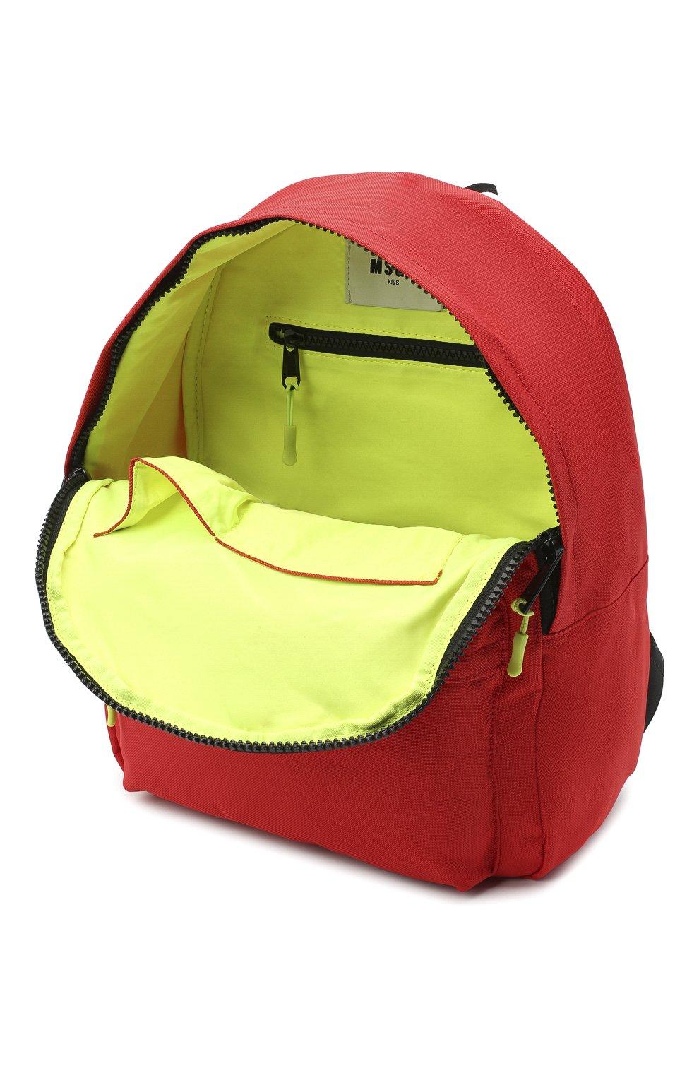 Детская рюкзак MSGM KIDS красного цвета, арт. 025236   Фото 3 (Материал: Текстиль)