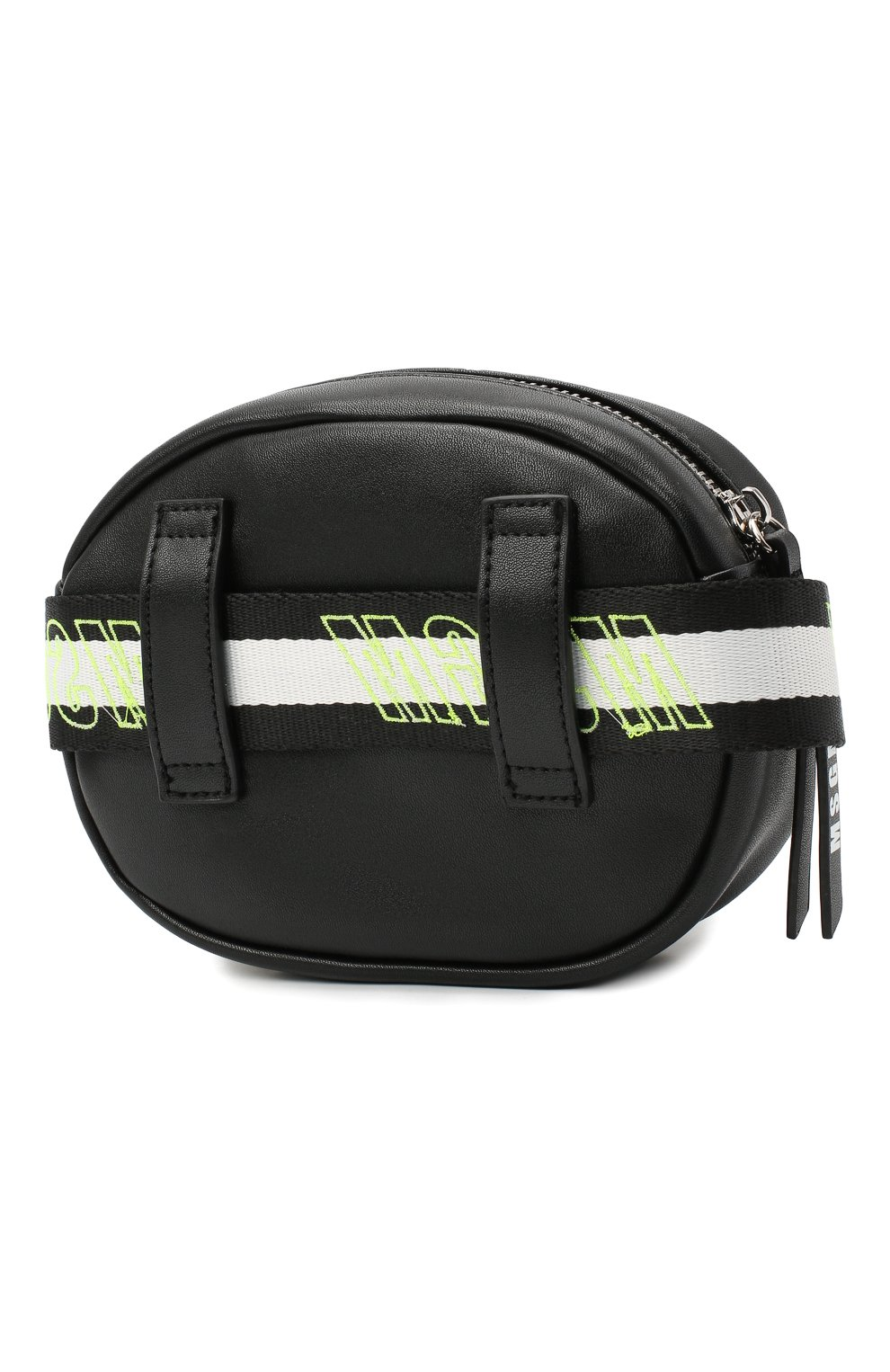 Детская поясная сумка MSGM KIDS черного цвета, арт. 025233 | Фото 2 (Материал: Текстиль)