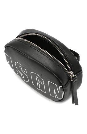 Детская поясная сумка MSGM KIDS черного цвета, арт. 025233 | Фото 3 (Материал: Текстиль)