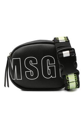Детская поясная сумка MSGM KIDS черного цвета, арт. 025233 | Фото 4 (Материал: Текстиль)