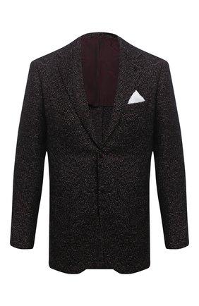 Мужской пиджак из кашемира и шелка KITON темно-бордового цвета, арт. UG81K01T60   Фото 1
