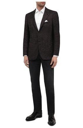 Мужской пиджак из кашемира и шелка KITON темно-бордового цвета, арт. UG81K01T60   Фото 2