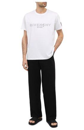 Мужские резиновые шлепанцы BOTTEGA VENETA черного цвета, арт. 640050/V00P0 | Фото 2 (Материал внешний: Резина)
