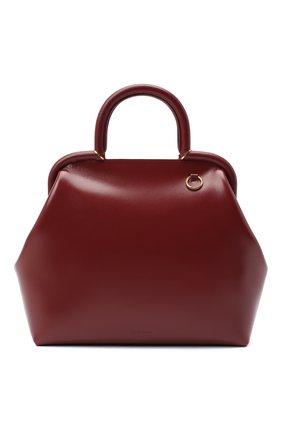Женская сумка clover JIL SANDER бордового цвета, арт. JSPR851446-WRB69147N | Фото 1