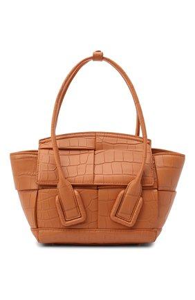Женская сумка arco mini из кожи аллигатора BOTTEGA VENETA коричневого цвета, арт. 629529/VA901/AMIS | Фото 1