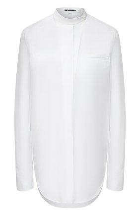 Женская хлопковая рубашка JIL SANDER белого цвета, арт. JSX0600105-W0244300 | Фото 1