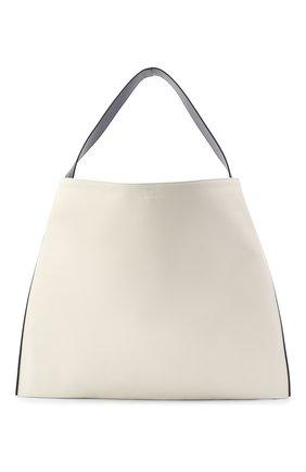 Женский сумка-шопер border JIL SANDER белого цвета, арт. JSWQ852397-WQB69033 | Фото 1