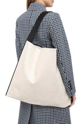 Женский сумка-шопер border JIL SANDER белого цвета, арт. JSWQ852397-WQB69033 | Фото 2