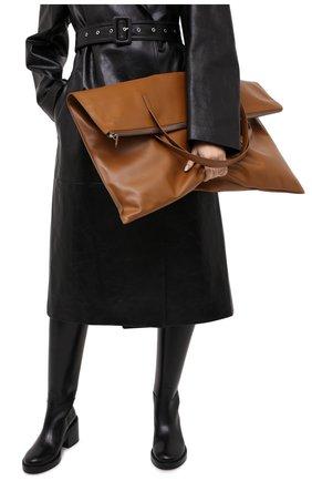 Женский сумка-шопер JIL SANDER коричневого цвета, арт. JSWP850361-WPB00016 | Фото 2