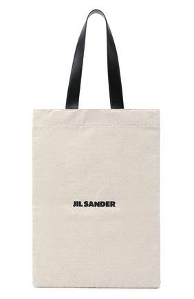 Женский сумка-шопер flat large JIL SANDER белого цвета, арт. JSMR852457-MRB73006 | Фото 1