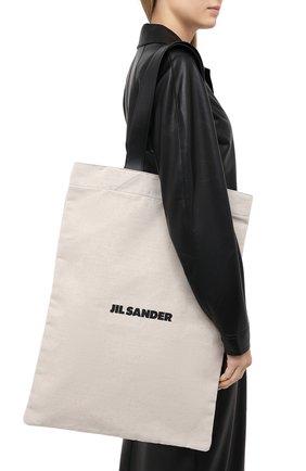 Женский сумка-шопер flat large JIL SANDER белого цвета, арт. JSMR852457-MRB73006 | Фото 2