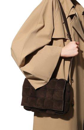 Женская сумка padded cassette BOTTEGA VENETA темно-коричневого цвета, арт. 591970/V04N1 | Фото 2