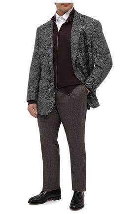 Мужская хлопковая сорочка ETON белого цвета, арт. 1000 01387 | Фото 2 (Рукава: Длинные; Материал внешний: Хлопок; Мужское Кросс-КТ: Сорочка-одежда; Принт: Однотонные; Big sizes: Big Sizes; Случай: Формальный; Рубашки М: Classic Fit; Стили: Классический; Манжеты: На пуговицах; Воротник: Кент; Длина (для топов): Удлиненные)