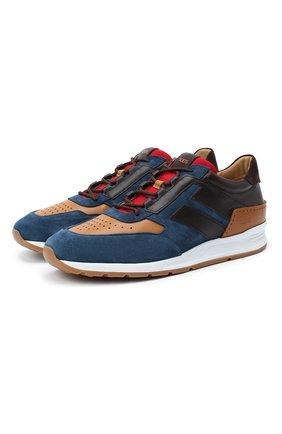 Мужские комбинированные кроссовки TOD'S разноцветного цвета, арт. XXM56B0AY300Q5 | Фото 1