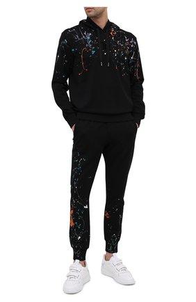 Мужской хлопковые джоггеры DOLCE & GABBANA черного цвета, арт. GYPQAT/FU7DU | Фото 2