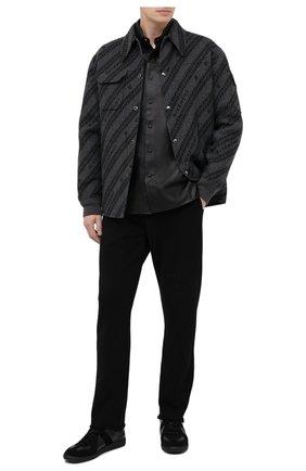 Мужской хлопковые брюки RTA черного цвета, арт. MF0213-0135BLK2 | Фото 2