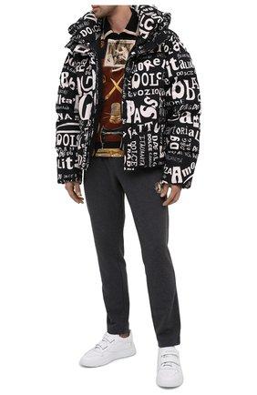 Мужской хлопковые брюки DOLCE & GABBANA темно-серого цвета, арт. GW3EAZ/G7XSI | Фото 2