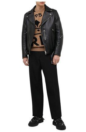 Мужской кашемировый свитер BERLUTI бежевого цвета, арт. R18KRL159-001   Фото 2