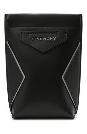 Мужская кожаная сумка antigona GIVENCHY черного цвета, арт. BKU00XK115 | Фото 1