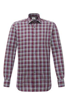Мужская хлопковая рубашка BAGUTTA бордового цвета, арт. 380_EBL/10551 | Фото 1